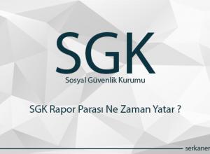 SGK Rapor Parası Ne Zaman Yatar ?