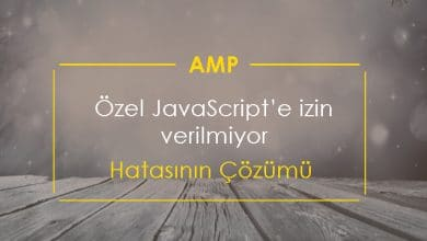 AMP Özel JavaScript'e izin verilmiyor