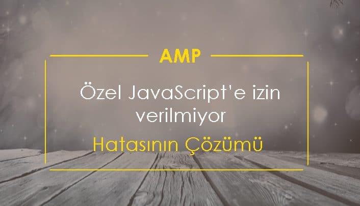 AMP Özel JavaScript'e izin verilmiyor